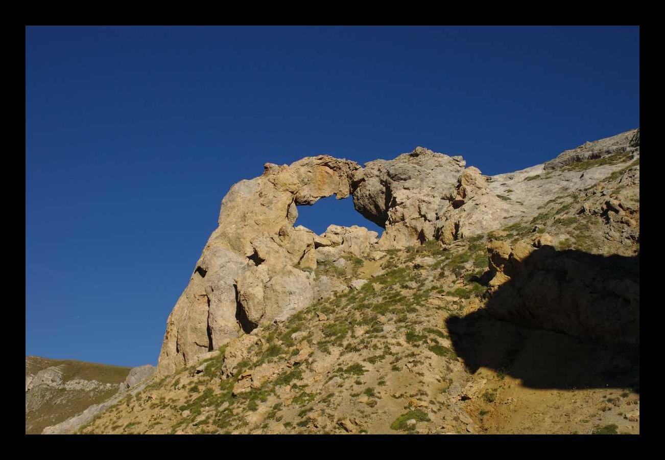 Formation rocheuse originale sous les aiguilletes