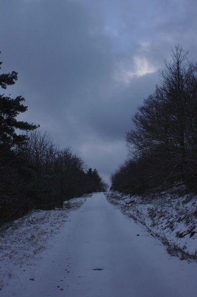 Départ sous la neige